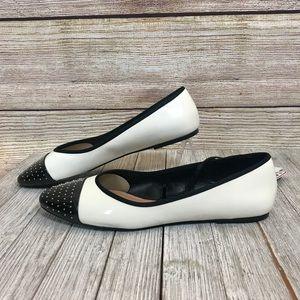 Zara Studded Toe Ballet Flats